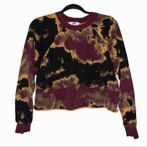 Joy Lab marbled cropped sweatshirt. Small